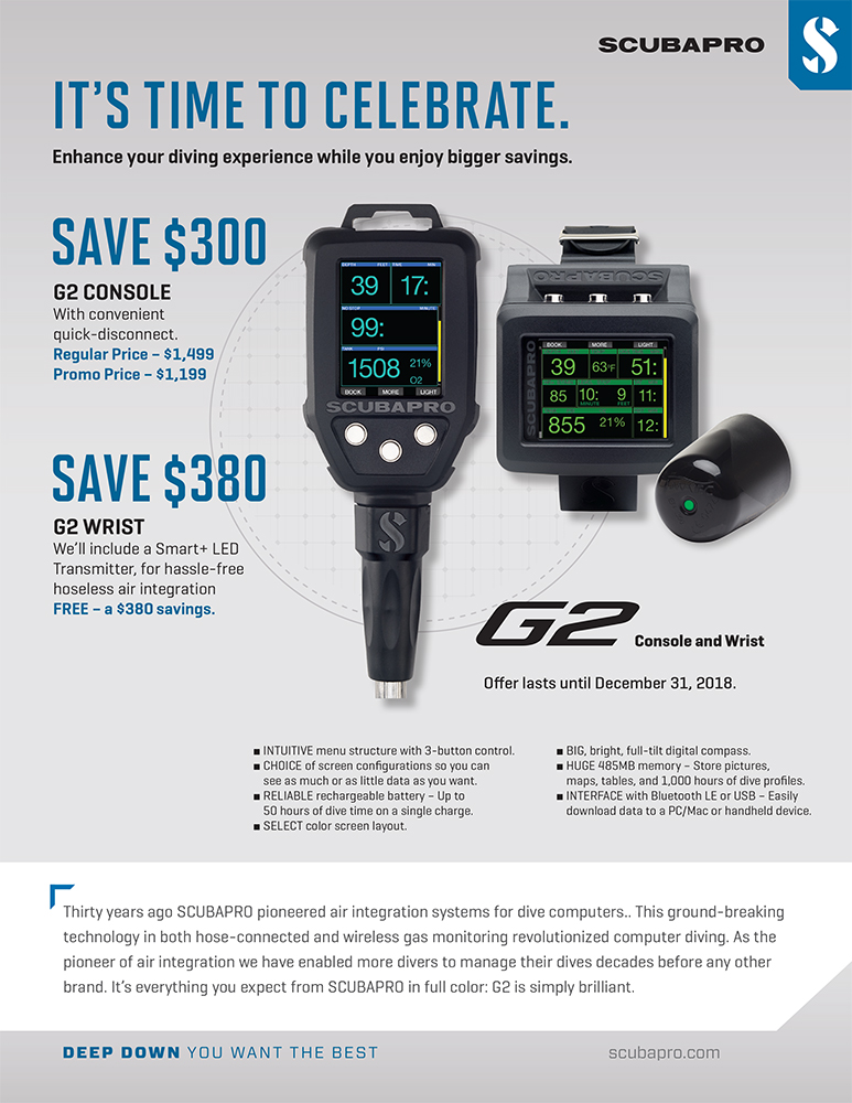 All New Promo on SCUBAPRO G2 Console and Wrist Models